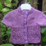 Hand Knitted Baby Cardigan 3-6 Mont..