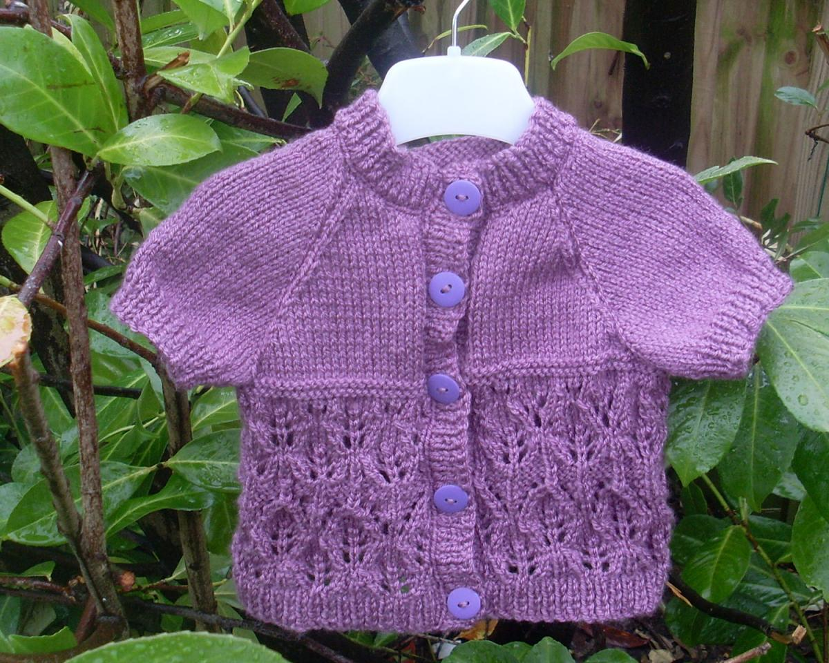 Hand Knitted Baby Cardigan 3-6 Months