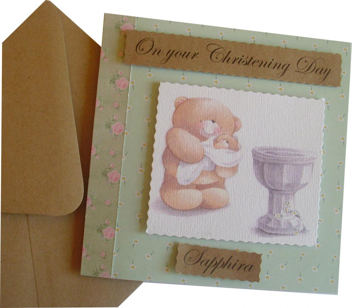 Christening/Baptism personalised Card